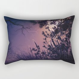 Moonlight Sonata (Tree and Reed Plant Silhouette) Rectangular Pillow