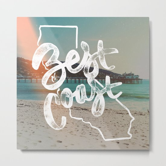 Best Coast Metal Print