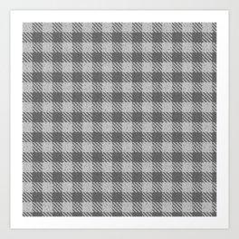 Dark Grey Buffalo Plaid Art Print