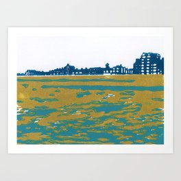 Seaview Kingsway in Turquoise Art Print