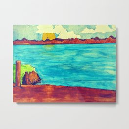 Journey To The Cross Metal Print