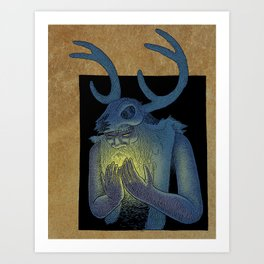 Winter Shaman  Art Print