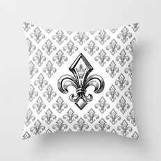Royal - fleur de lys Throw Pillow