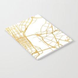 PHILADELPHIA PENNSYLVANIA CITY STREET MAP ART Notebook