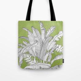 Banana Leaves Illustration - Green Tote Bag