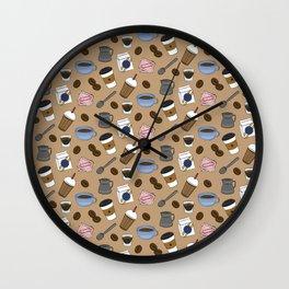 Cafe Pattern Wall Clock