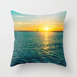 St Pete Sunrise Throw Pillow