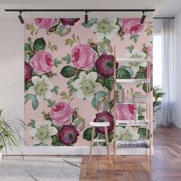 Floral enchant - blush Wall Mural