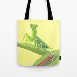 Mantis and Leafhopper Tote Bag