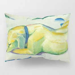 "Franz Marc ""Dog Lying in the snow"" Pillow Sham"