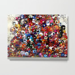 Takashi Murakami - There Are Little People Inside Me Metal Print