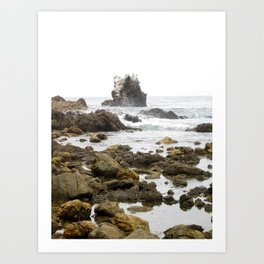 Rock Arch at Crystal Cove, Newport Beach, California Art Print