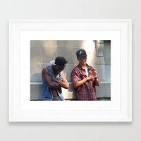 infamous Framed Art Prints featuring Infamous Jay & King Reefer by Ryan Gillings