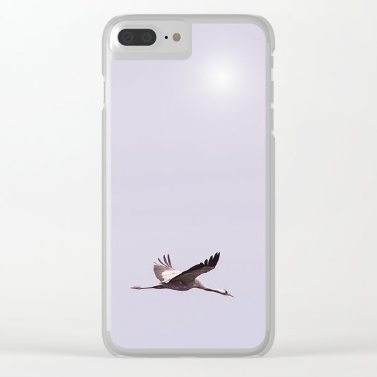 Cranes in Flight Clear iPhone Case