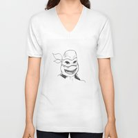 ninja turtle V-neck T-shirts featuring turtle by heads in the bed