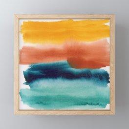Rainbow Abstract #! Framed Mini Art Print