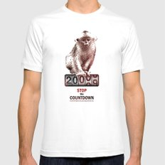 Save Golden Monkeys MEDIUM Mens Fitted Tee White