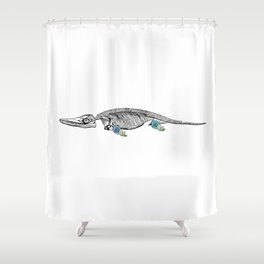 Ich-tree-osaurus Shower Curtain