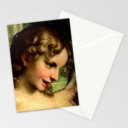 "Antonio Allegri da Correggio ""Madonna of St. Jerome""(detail) Angel Stationery Cards"