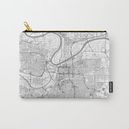 Kansas City Map Line Carry-All Pouch