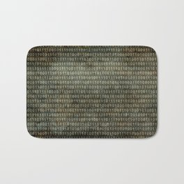 Binary Code with grungy textures Bath Mat
