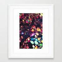 minerals Framed Art Prints featuring MINERALS - for iphone by Vertigo