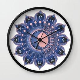 Zodiac Mandala Wall Clock