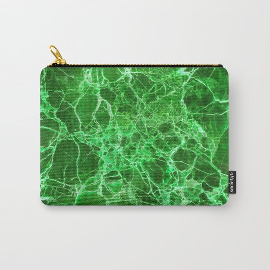 Emerald green marble Carry-All Pouch