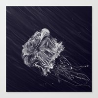 jellyfish Canvas Prints featuring Jellyfish by Adam Dunt