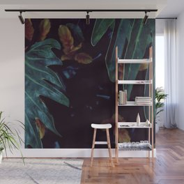 Golden Green Wall Mural