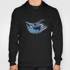 Orca Spash ~ Watercolor Killer Whale Painting by Amber Marine Hoody