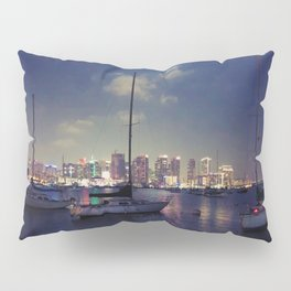 San Diego by Night - Oil Pillow Sham