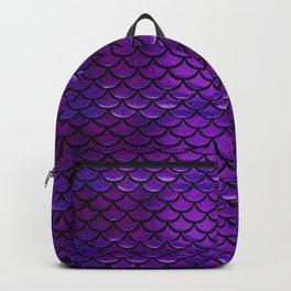 Purple & Blue Mermaid Scales Backpack