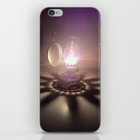 duvet cover iPhone & iPod Skins featuring LIGHT AND SHADOW DUVET COVER by aztosaha