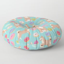 Shiba inu dog breed donuts pet gifts must have pure breeds shiba inus doughnuts Floor Pillow