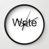 write Wall Clocks featuring Write by Empire Ruhl