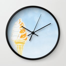 Vintage Ice Cream Sign Wall Clock