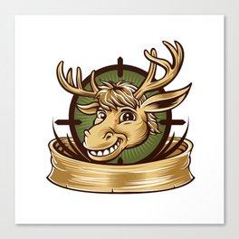 Cartoon Deer mascot  Canvas Print