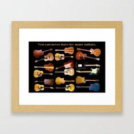 Guitars Galore Framed Art Print