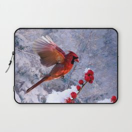 Red Birds of Christmas Laptop Sleeve