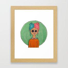 Button Eyed Girl 2 Framed Art Print