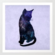 Galactic Cat Art Print