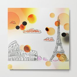Sketch travel Metal Print