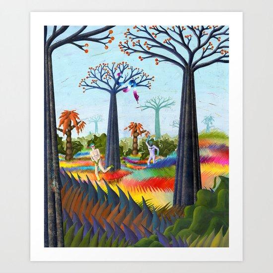 batmans paradise  Art Print