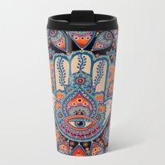 Hamsa Hand Metal Travel Mug