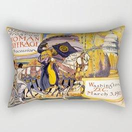 Women's March On Washington, Votes For Women, Women's Suffrage Rectangular Pillow