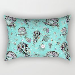 Audrey Mermaid Pattern 08 Rectangular Pillow