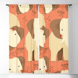 Elephant, African Wildlife Blackout Curtain
