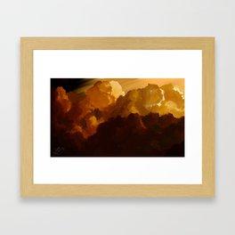 Landscape (Clouds) Framed Art Print