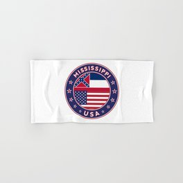 Mississippi, USA States, Mississippi t-shirt, Mississippi sticker, circle Hand & Bath Towel